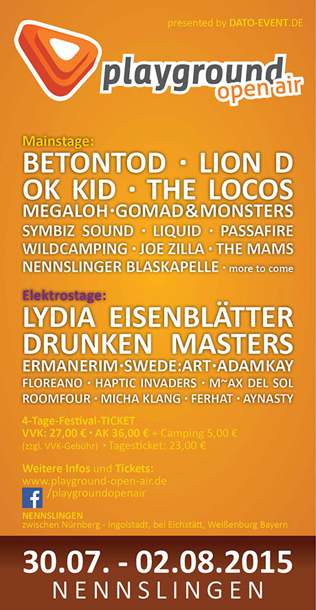 Flyer Playground Open Air 2014